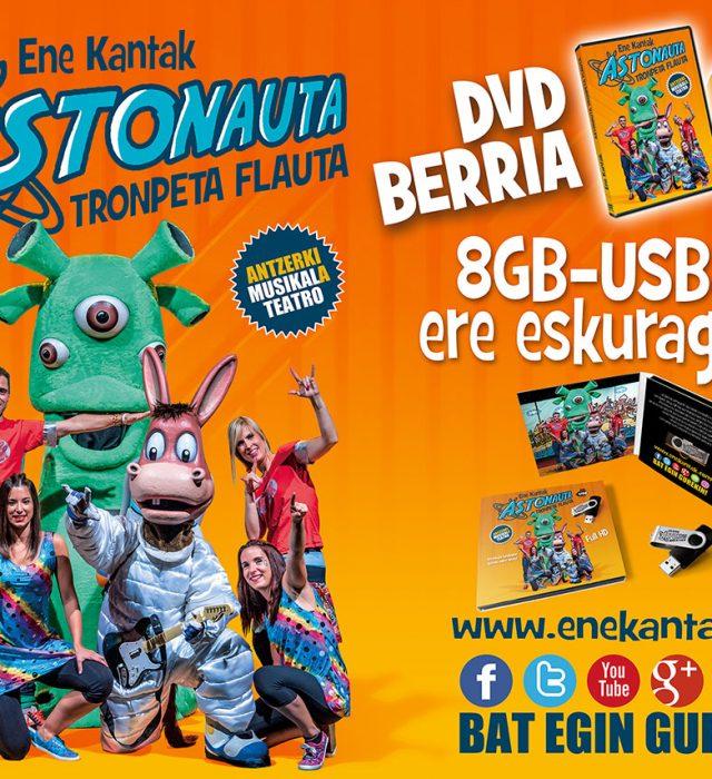 ASTONAUTA TRONPETA FLAUTA DVD berria salgai