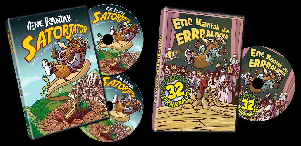 DVD-CD-SATOJATOR + DVD-ENE-KANTAK-JAI-ERRRALDOIA