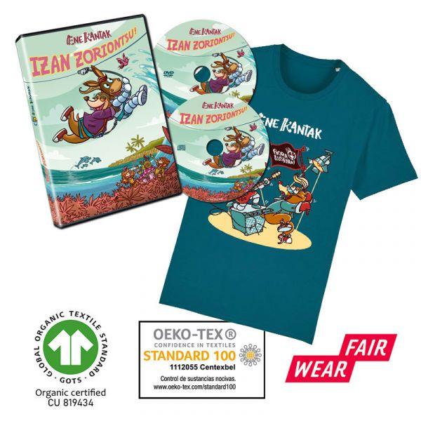 ASTO-SATOR-KAMISETA-urdina-eta-Izan-Zoriontsu-CD-DVDa