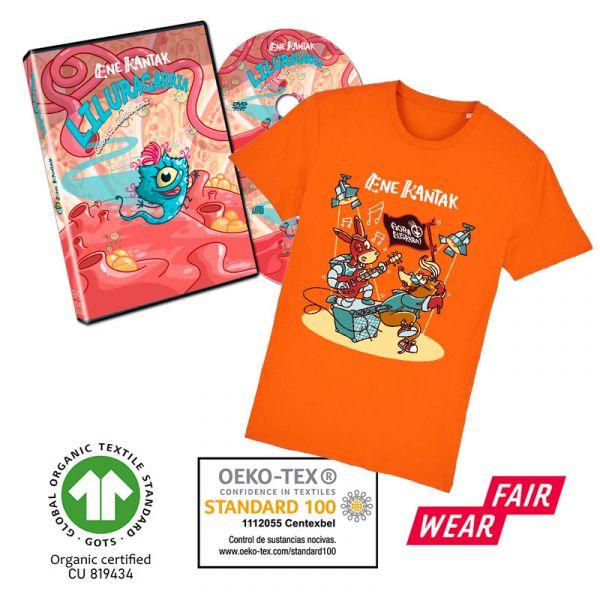 Liluragarria DVDa + SatoJator Kamiseta laranja